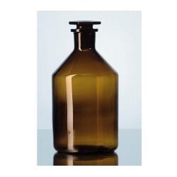 Enghals-Standflasche 100 ml Boro 3.3 braun mit Stopfen