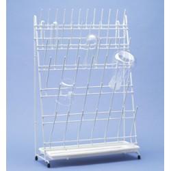Abtropfgestell für 50 Apothekenflaschen PE-weiss LxBxH