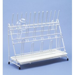 Draining rack 12 rods and 11 arches LxWxH 420x170x300 mm