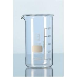 Becher 100 ml Duran hohe Form Teilung Ausguss VE 10 Stck.