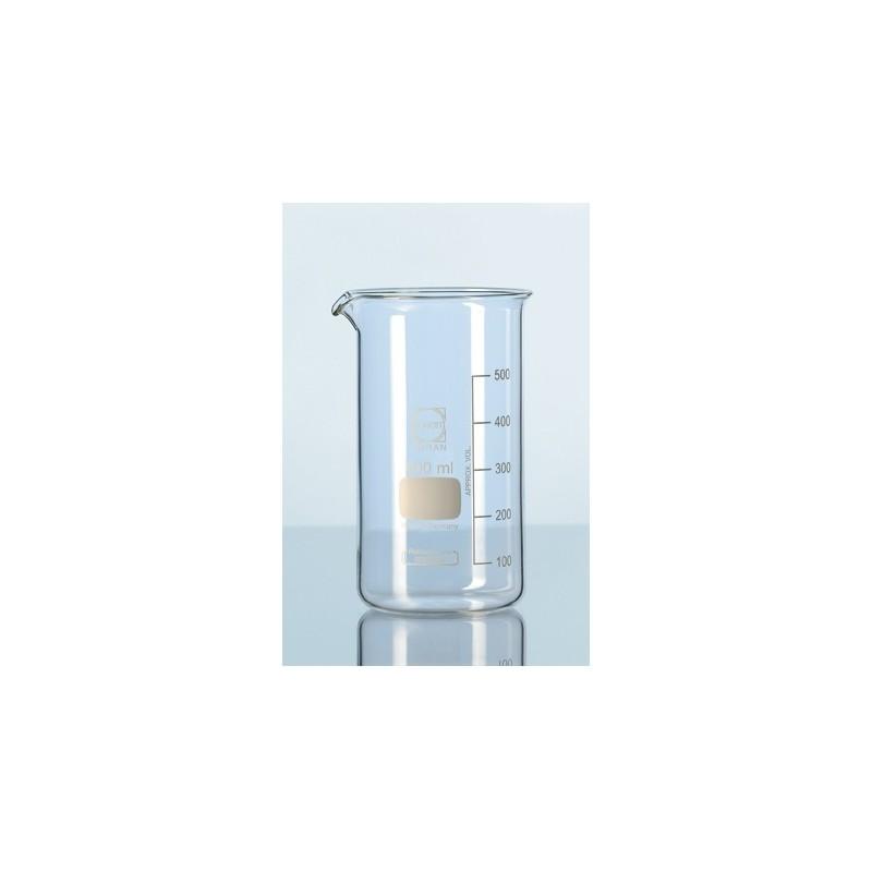 Becher 250 ml Duran hohe Form Teilung Ausguss VE 10 Stck.
