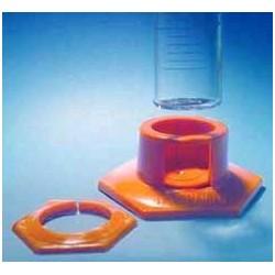 Plastic socket for measuring cylinder 100 ml orange pack 10 pcs.