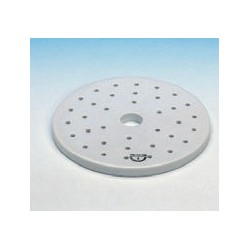 Exsikkator-Platte Ø 140 mm 20 mm-Loch in der Mitte und 5