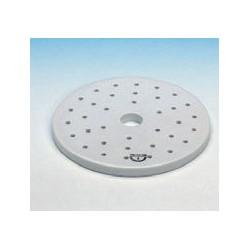 Desiccator plate Ø 280 mm centre hole 20 mm and Ø 5 mm filter