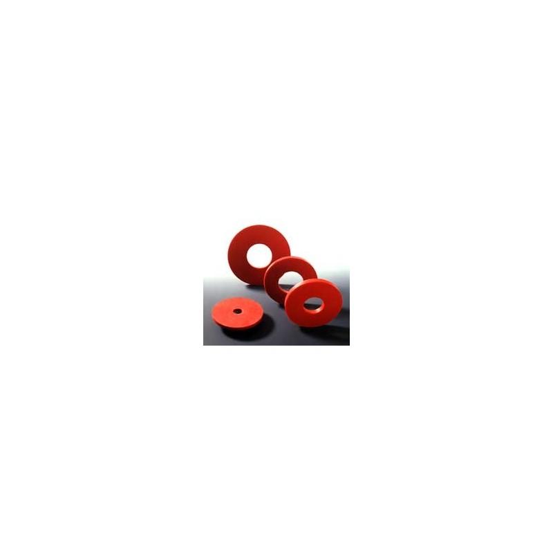 Filterformscheibe Naturkautschuk rot Ø innen/außen 12/65 mm
