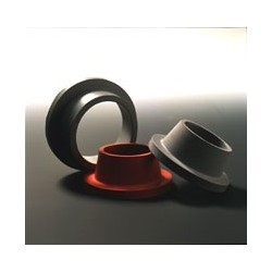 Filter Ring with flange Natural Rubber red opening Ø bottom/top