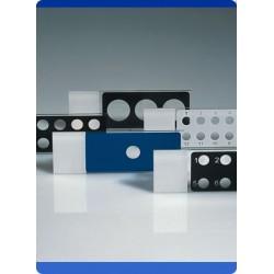 Diagnostika-Objektträger 75x25x1 mm PTFE-Beschichtung schwarz