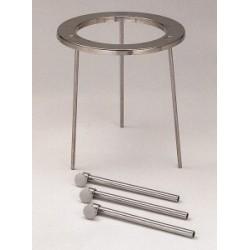 Dreifüsse 18/10-Stahl zerlegbar HxØ 210x100 mm