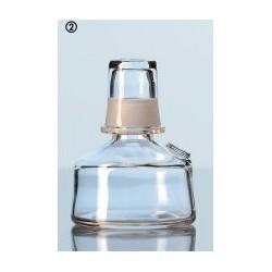 Spiritusbrenner aus Kalk-Soda-Glas mit aufgeschliffener