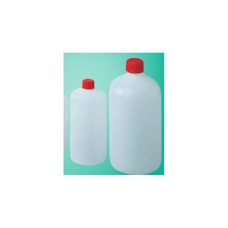 Butelka okrągła PEHD 500 ml wąskoszyjna zakrętka z uszczelką