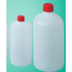 Rundflasche PEHD 100 ml enghals Verschluss mit Dichtung VE 350