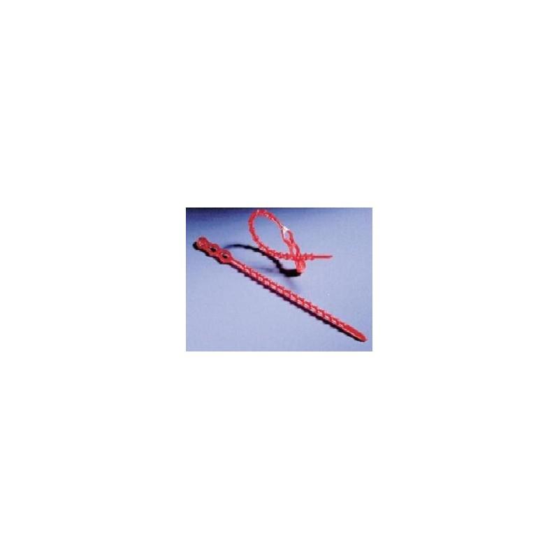 Kunststoff-Binder PE Länge 180 mm Ø 3,5 mm rot VE 100 Stck.