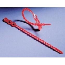 Kunststoff-Binder PE Länge 240 mm Ø 3,9 mm rot VE 100 Stck.