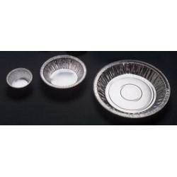 Wägeschalen Aluminium konisch 28 ml H 13 mm Ø 64 mm VE 100 St.