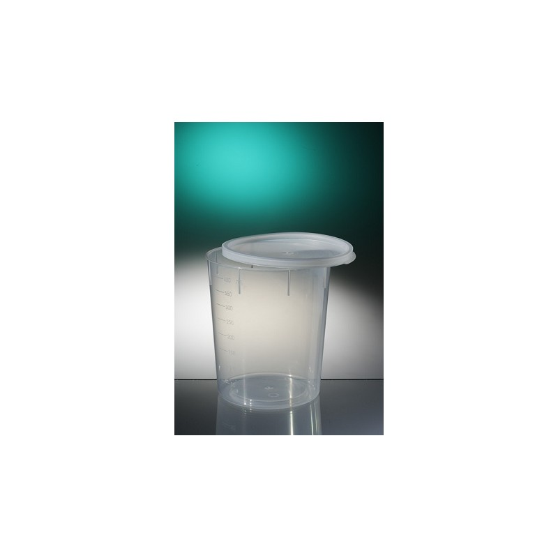 Conical container PP 400 ml natural graduated snap cap pack 185