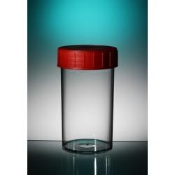 Behälter PP 180 ml roter Schraubverschluss unsteril VE 264