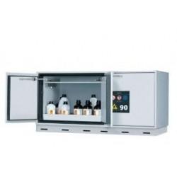 Safety storage underbench cabinet UB90.060.140.050.2S RAL7035
