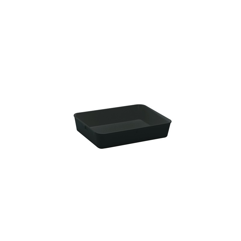 Instrument tray MF without lid 280x210x60 mm black pack 5 pcs.