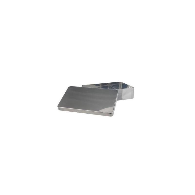 Instrumentenschale mit Deckel ohne Griff stapelbar 18/10-Stahl