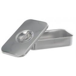 Instrumentenschale mit Deckel mit Griff stapelbar 18/10-Stahl
