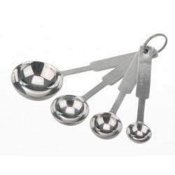 Measure spoon set 18/10 stainless 4 spoons 1 ml/2,5ml/5ml/15ml