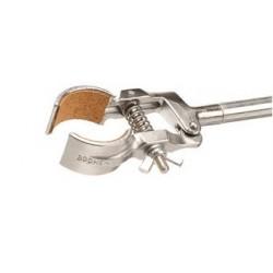Retort clamp standard round jaws steel zincked 100 mm