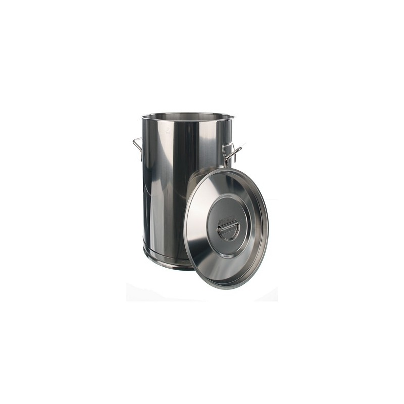 Transportbehälter 75 Liter 18/10-Stahl HxØ 600x400 mm ohne