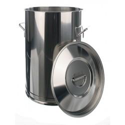 Transportbehälter 100 Liter 18/10-Stahl HxØ 670x450 mm ohne