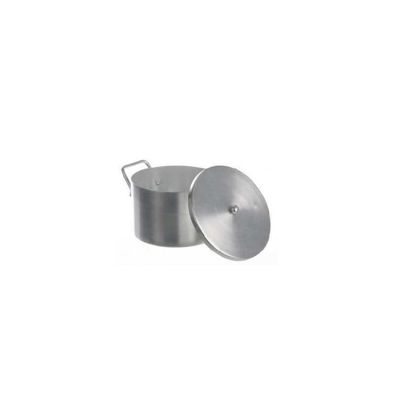 Laboratory pot with lid aluminium 1,5 L