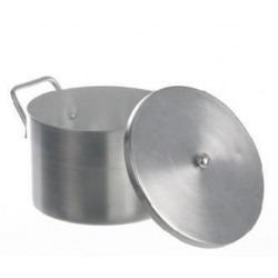Laboratory pot with lid aluminium 3 L
