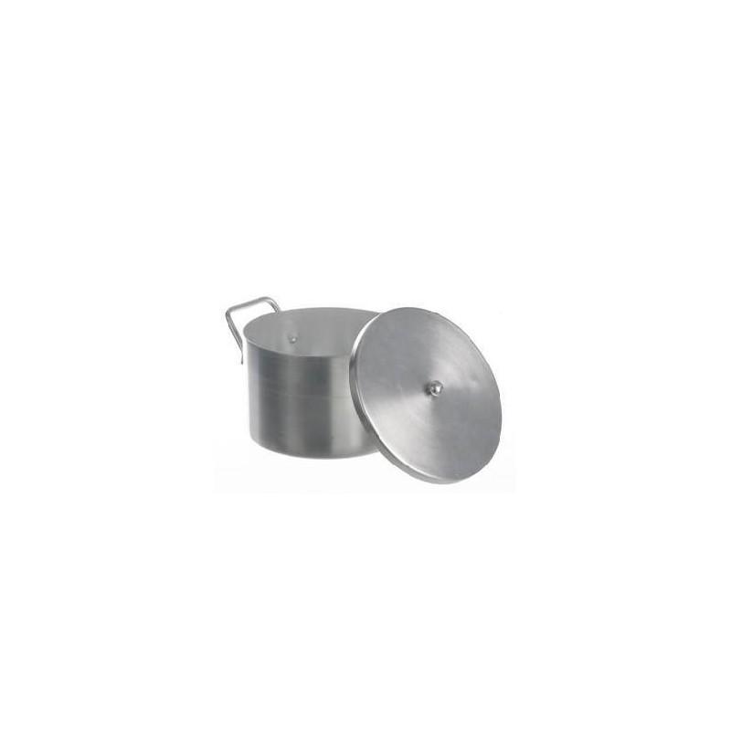 Laboratory pot with lid aluminium 3 L
