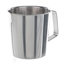 Messbecher 2000:100 ml Edelstahl zylindrische Form Griff Ausguss
