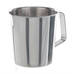 Graduated beaker 1000:100 ml stainless steel conical form handle
