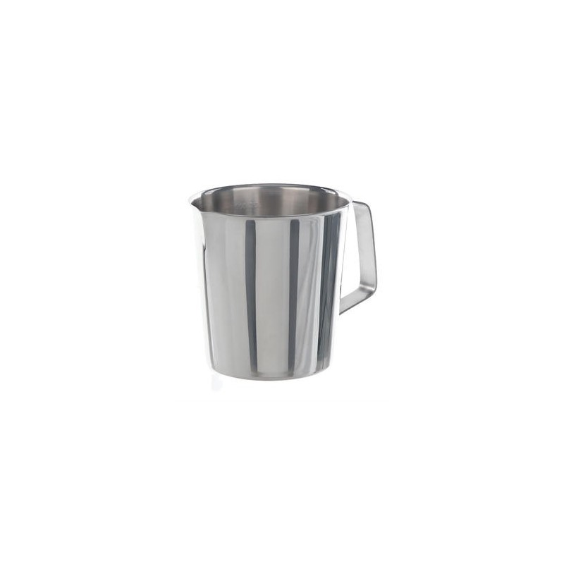 Messbecher 2000:100 ml Edelstahl konische Form Griff