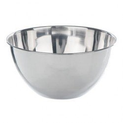 Bowl flat bottom 18/10-stainless 2000 ml
