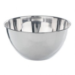 Bowl flat bottom 18/10-stainless 5000 ml
