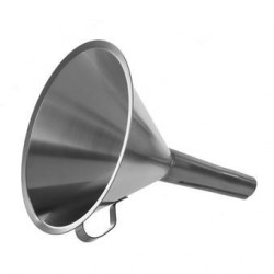 Funnel 18/10-Stainless height 220 mm Ø 200/21 mm with handle