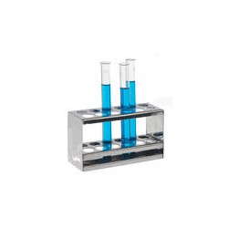 Test tube stand 18/10 stainless holes 2 x 12 Ø 17 mm
