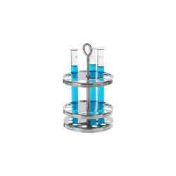Test tube stand round 18/10 stainless holes 9 Ø 20 mm