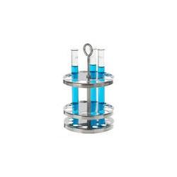 Reagenzglasständer rund 18/10 Stahl Öffnungen 45 Ø 20 mm
