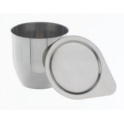 Schmelztiegel 25 ml Stahl 18/10 ohne Deckel HxØ 35x35 mm