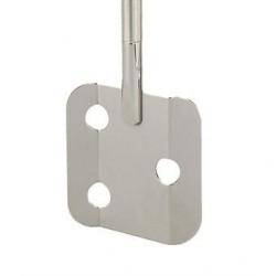 Flächenrührer 3 Loch 18/10-Stahl Länge 300 mm Ø 10 mm D1 70 mm