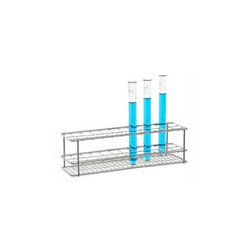 Test tube stand 18/10 steel electrolytically polished LxWxH