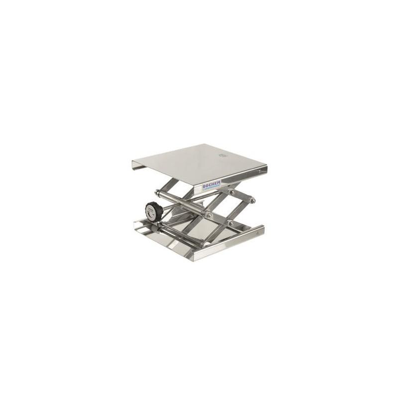 Hebebühne 100x100 mm 18/10 Stahl 55…120 mm zulässige Belastung