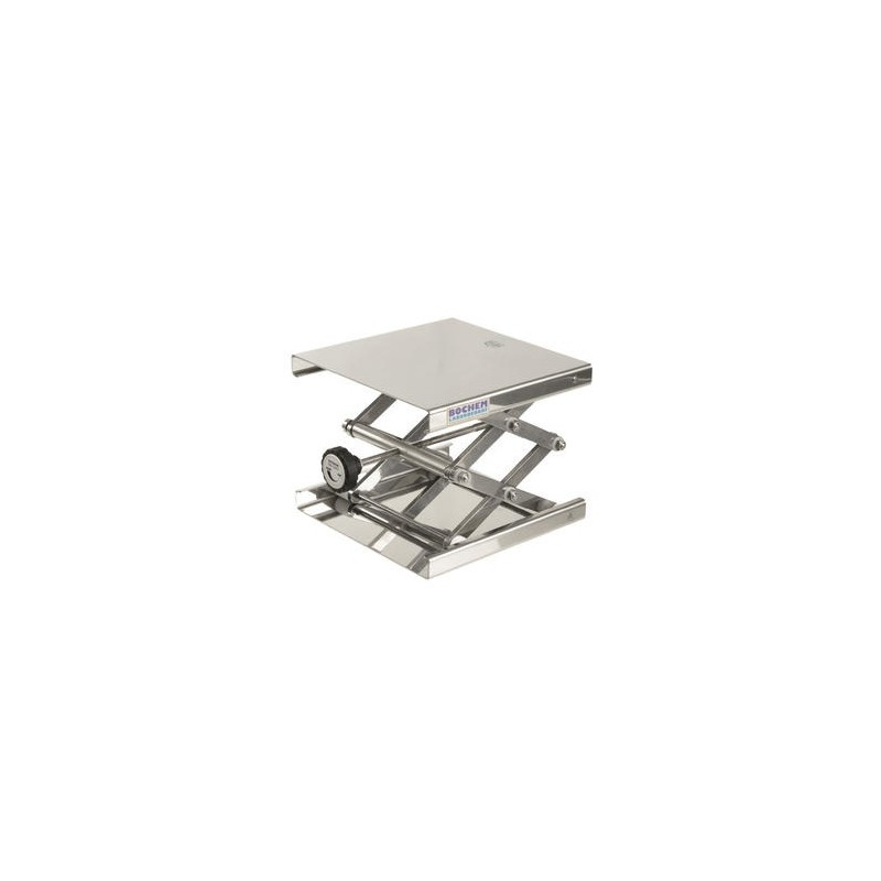 Hebebühne 200x200 mm 18/10 Stahl 60…275 mm zulässige Belastung