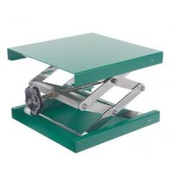 Hebebühne 100x100 mm Alu-Grün 55…120 mm zulässige Belastung 10