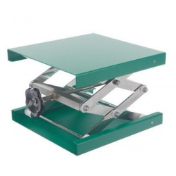 Lab-Jacks 100x100 mm aluminium green 55…120 mm allowed load 10