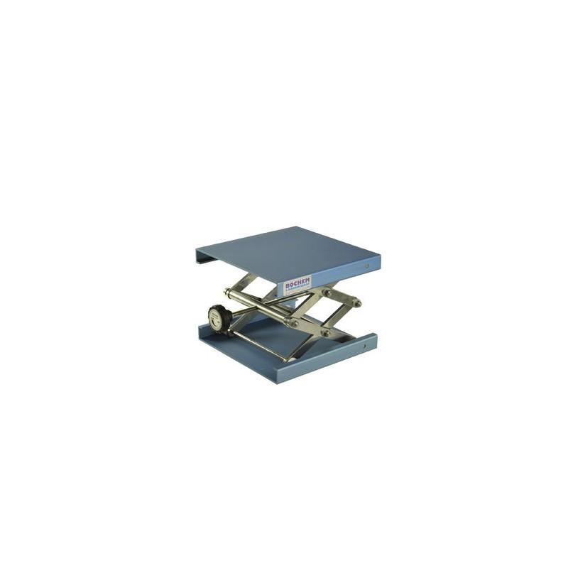 Hebebühne 100x100 mm Alu-eloxiert 55…120 mm zulässige Belastung