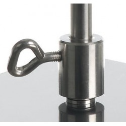 Sockets for rods without thread 18/10 stainless steel Ø 12 mm