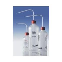 """Sicherheitsspritzflasche """"Dest. Wasser"""" 1000 ml PELD enghals"""